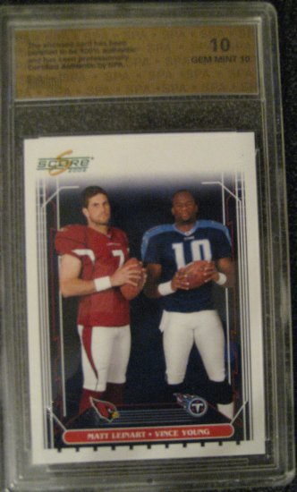 Matt Leinart Vince Young 2006 Score SPA Gem-mint 10 Rookie card  Arizona Cardinals  Titians