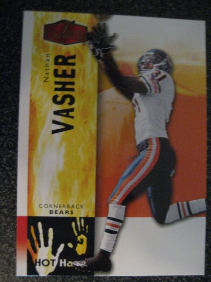 Nathan Vasher 06 Flair Showcase Hot Hands insert card Chicago Bears