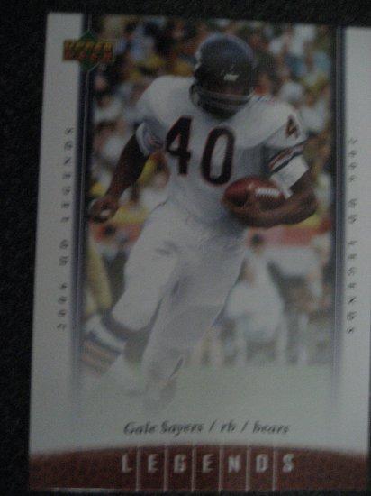 Gale Sayers 06 Upper deck Ledgends card Chicago Bears Runningback