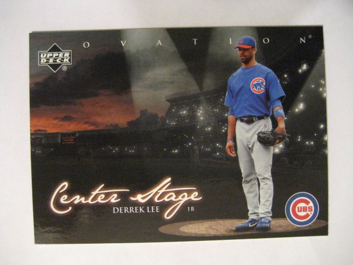 Derrek Lee 06 Upper Deck Ovation Center Stage Insert card Chicago Cubs