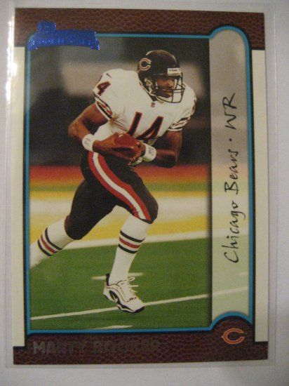 Marty Booker 99 Bowman Blue Rookie card Chicago Bears