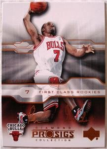 Ben Gordon 04 Upper Deck Prosigs First Class rookies rookie card Chicago Bulls