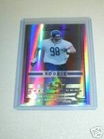 Dusty Dvoracek 06 Donruss Threads rookie card Chicago Bears serial numbered 444/999