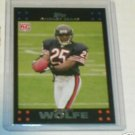 Garrett Wolfe 07 Topps rookie card Chicago Bears