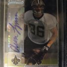 Chase Lyman 05 Bowman Chrome Autograph rookie card New Orleans Saints