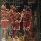 95/96 Topps Stadium Club Chicago Bulls best season ever Golden Moments card. 72W10L Season Jordan