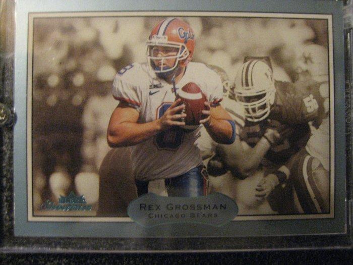 Rex Grossman 03 Fleer Showcase rookie card Chicago Bears