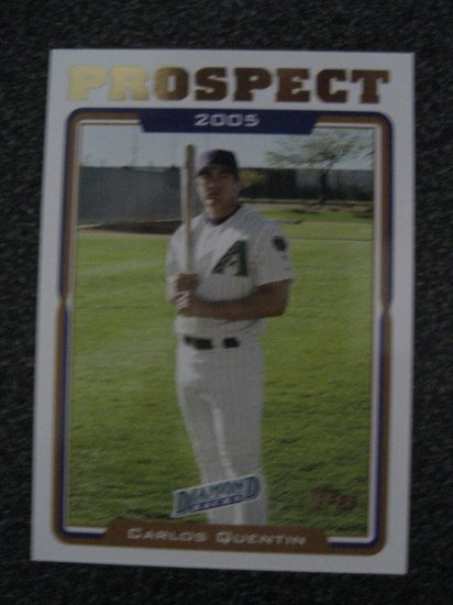Carlos Quentin 05 Topps rookie card Chicago White Sox