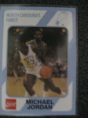Michael Jordan 1989 Collegiate Collection North Carolina's Finest card Chicago Bulls