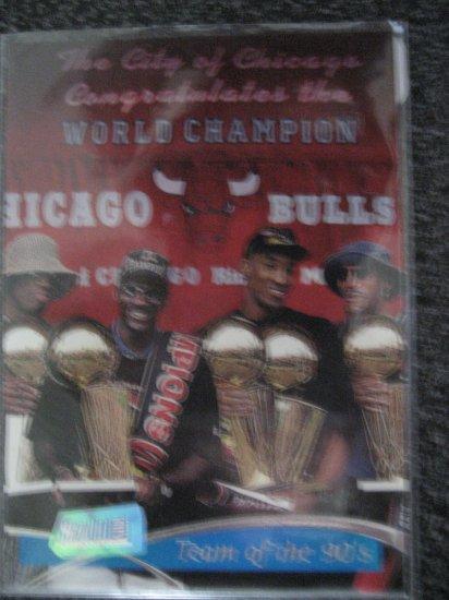 Topps Stadium Club 97 Chicago Bulls Team of the 90's card Michael Jordan Scottie Pippen Denis Rodman