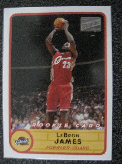 Lebron James 03 Tops Bazooka rookie card Clevland Cavaliers