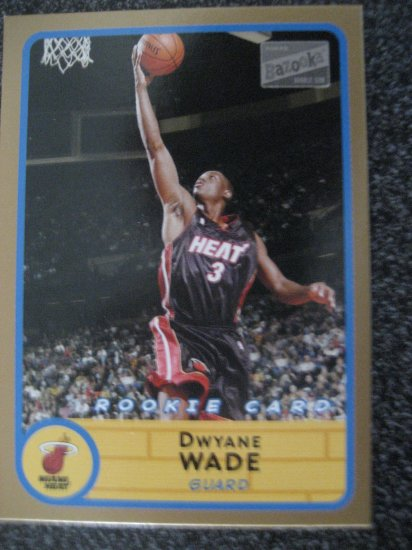 Dwayane Wade 03 Topps Bazooka GOLD rookie card Miami Heat
