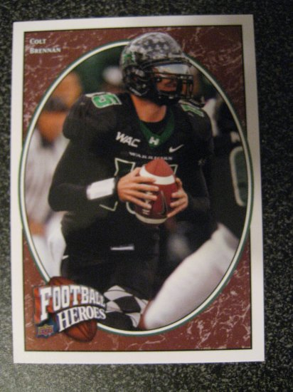 Colt Brennan 08 Upper Deck Football Heroes rookie card