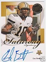 08 Earl Bennett Press Pass Saturday Signatures Autographed rookie card Chicago Bears