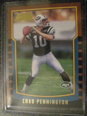 Chad Pennington 2000 Bowman rookie card Miami Dolphins