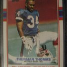 Thurman Thomas  1989 Topps Super rookie card Buffalo Bills Hall of Famer runningback