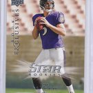 Joe Flacco 08 Upper Deck Star rookie Baltimore Ravens