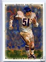 Dick Butkus 08 Upper Deck Masterpieces card Chicago Bears Great