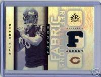 Kyle Orton 05 UD Reflections Fabric Sensations jersey card Denver Broncos