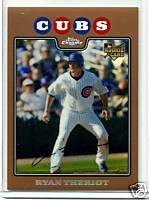 Ryan Theriot 08 Topps Chrome Copper Refractor rookie card Chicago Cubs 570/599
