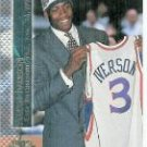 Allen Iverson 96/97 Topps Stadium club Shining Moments rookie card Detroit Pistons