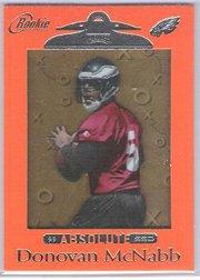 Donovan Mcnabb 1999 Playoff Absolute SSD rare ORANGE rookie card Eagles