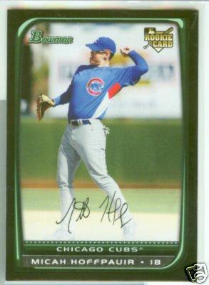 Micah Hoffpauir 08 Bowman draft rookie (4) card lot Chicago Cubs