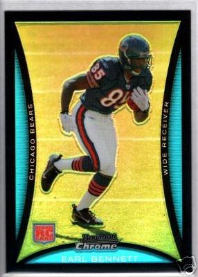 Earl Bennett 08 Bowman Chrome Refractor rookie card Chicago Bears