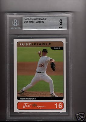 Rich Harden 2002 Just Minors BGS Gem mint 9 rookie card Chicago Cubs