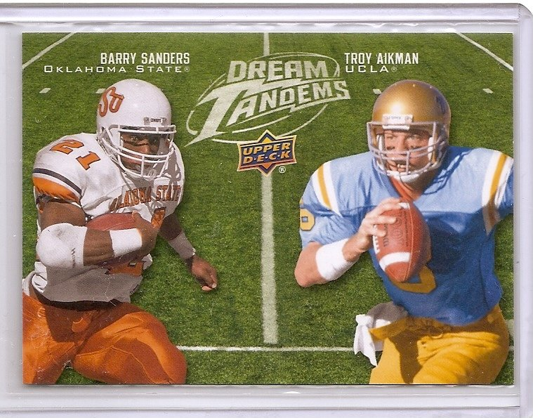 2011  Upper Deck Dream Tandems Barry Sanders / Troy Aikman