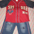 SPIDER-MAN DENIM SHORTS & TOP SET