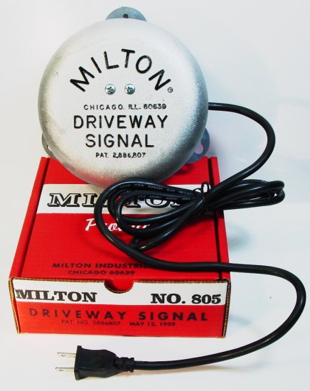 MILTON DRIVEWAY SIGNAL BELL 805