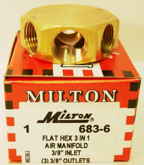 3 in 1 AIR MANIFOLDS S683-6 MILTON 683-6
