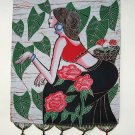 chinese batik art-Camellian girl