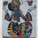 chinese batik art  mural painting- butterfly girl