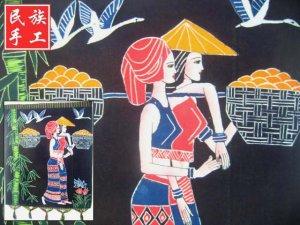 chinese batik art mural painting, wall hanging-perfect foison