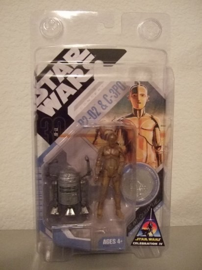 Star Wars TAC Celebration C4 Exclusive Concept McQuarrie C-3PO & R2-D2 Action Figure 2-Pack