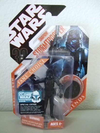 Star Wars Saga Legends TAC- Shadow Stormtrooper Action Figure Clone Wars