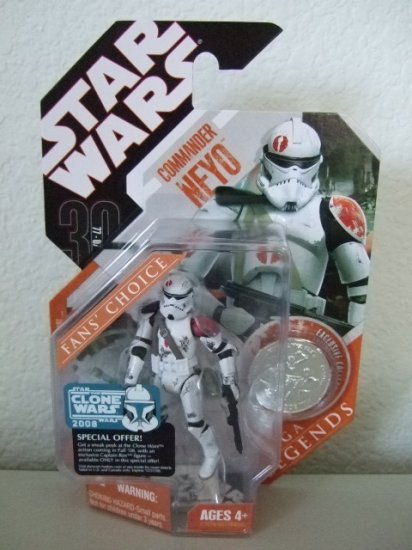 STAR WARS SAGA LEGENDS TAC- COMMANDER NEYO ACTION FIGURE TOY CLONE WARS ROTS