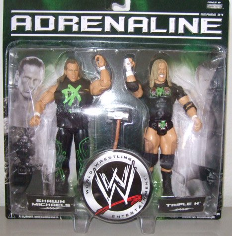 WWE Adrenaline 24 - Shawn Michaels & Triple H Action Figure 2-Pack DX