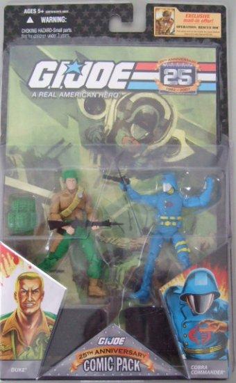 GI Joe 25th Anniversary Comic Pack - Duke and Cobra Commander Action Figure 2 - Pack