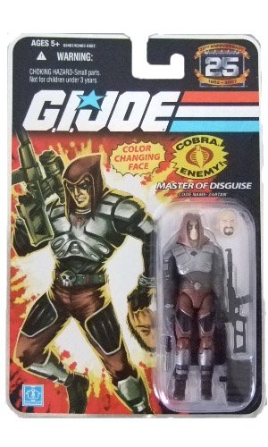 GI Joe 25th Anniversary Wave 3 - Zartan(Color Change Sticker) Action Figure