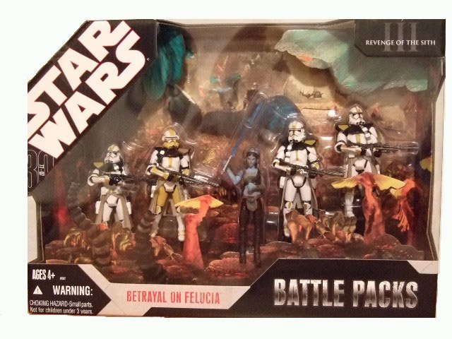 Star Wars 30th Anniversary ROTS Battle Pack - Betrayal On Felucia Action Figure Set