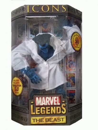 Marvel Legends Icons Series 3 - The Beast w/Lab Coat Variant Action Figure