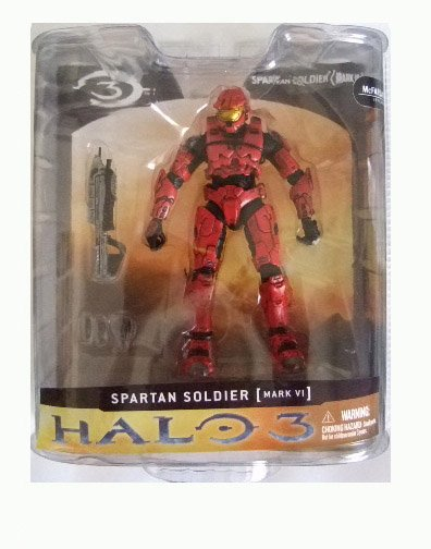 McFarlane Halo 3 Series 1 - Red Spartan Soldier Mark VI Action Figure XBOX 360