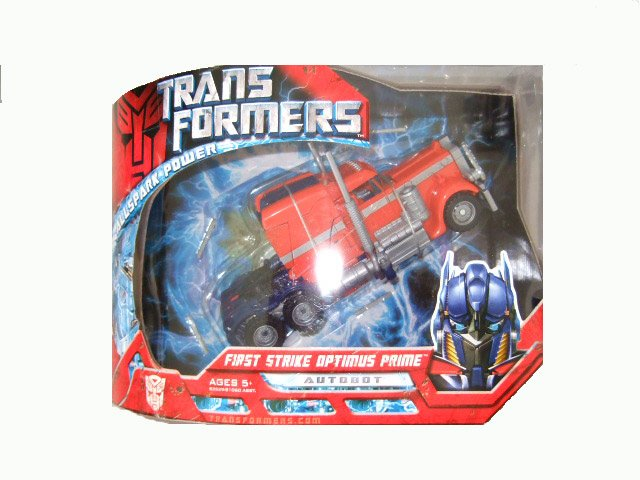 Transformers The Movie Voyager Class - First Strike Optimus Prime Action Figure