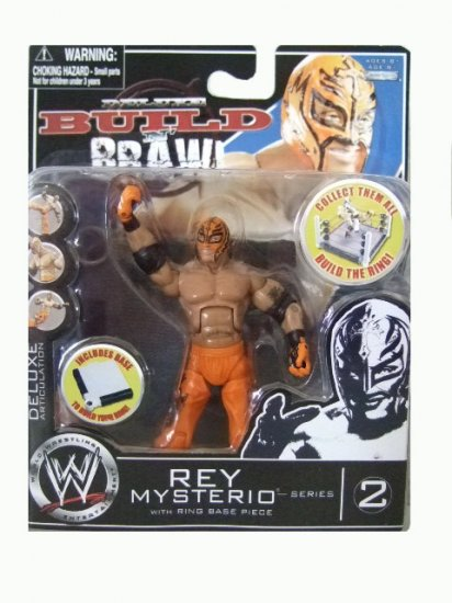 WWE Deluxe Build N' Brawl Series 2 - Rey Mysterio Action Figure