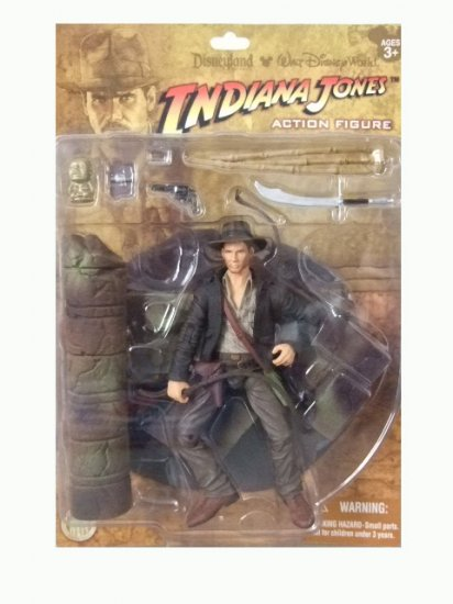 Disneyland Exclusive Indiana Jones Action Figure Raiders Of The Lost Ark Kingdom Of Crystal Skull