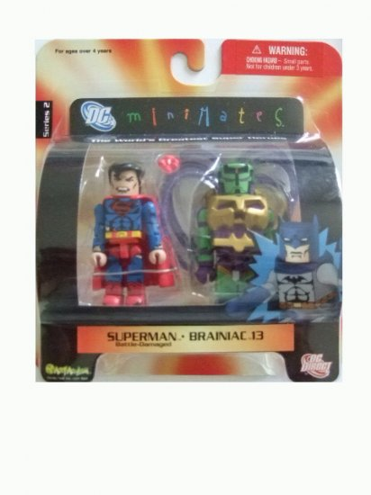 DC Mini Mates Series 2 - Superman and Brainiac 13 Action Figure 2-Pack