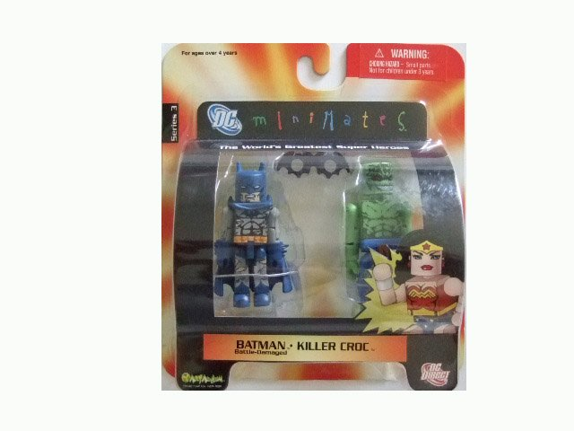 DC Mini Mates Series 2 - Batman and Killer Croc Action Figure 2-Pack